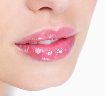 Zbliżenie na piękne usta