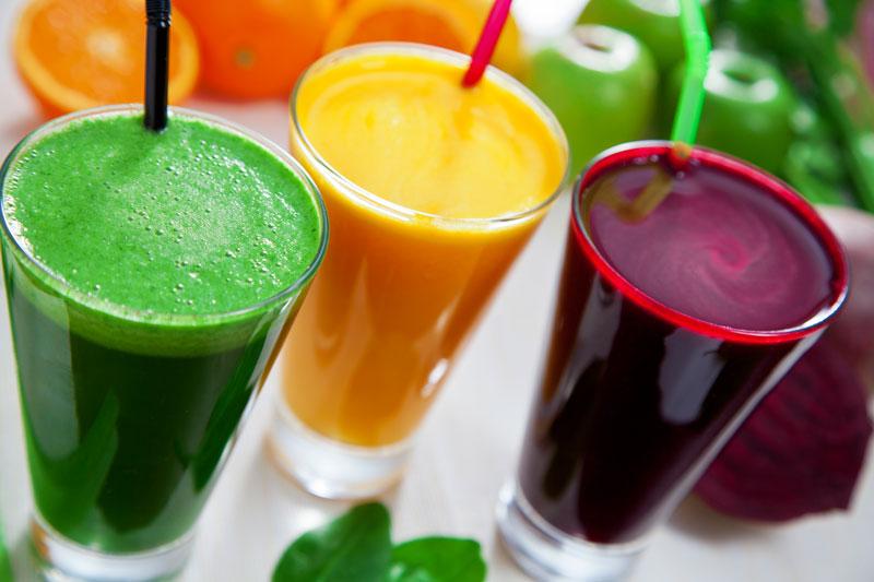 sok owocowy i sok warzywny