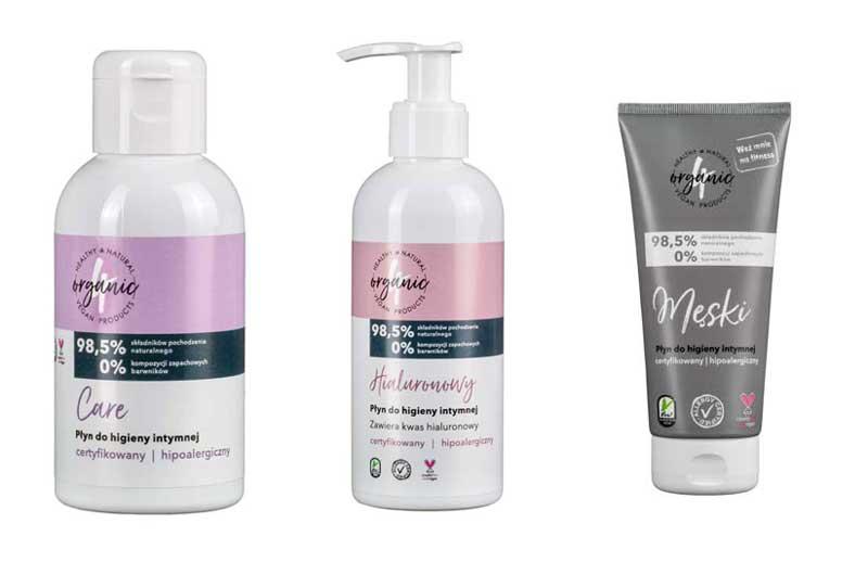 płyny do higieny intymnej 4organic
