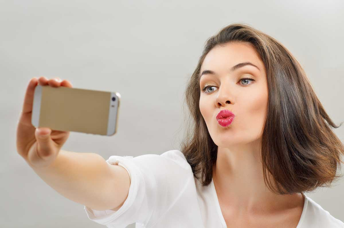 selfie usta